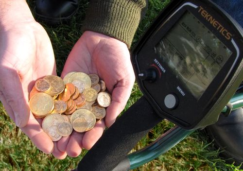 Gold Coins Found with Teknetics Metal Detector